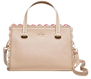Kate Spade Leather Pink Peach Satchel in Drifting Sand