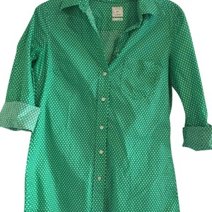 Gap Button Down Shirt Green