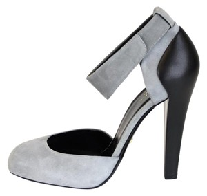Gucci Suede/leather Heel Pump Grey Pumps
