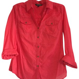 Express Button Down Shirt Salmon
