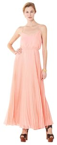 Twelfth St. by Cynthia Vincent Maxi Pleated Bridesmaid Chiffon Dress
