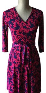 41Hawthorn short dress Navy, hot pink on Tradesy