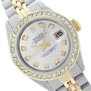 Rolex Rolex Datejust White Mother of Pearl Dimondl Lady Watch 6917