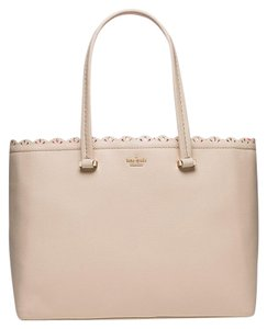 Kate Spade Leather Sand Lilyanne Peach New With Tags Tote in Drifting Sand