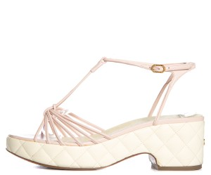 Chanel Light Pink & White Sandals