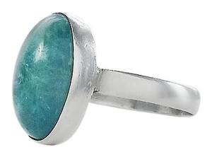 Sterling Aqua Stone Ring Size 8