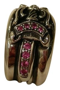 Chrome Hearts chrome hearts pink sapphire ring