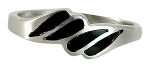 Other Black Onyx Inlay Ring Size 6.75