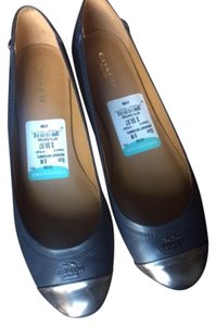 Coach Leather Flat Chelsea Midnight Navy Flats