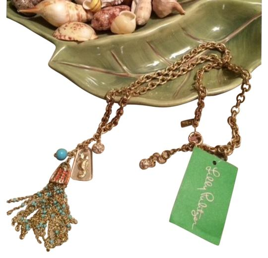 Preload https://img-static.tradesy.com/item/19365961/lilly-pulitzer-gold-tassel-seahorse-turquoise-seaside-necklace-0-1-540-540.jpg
