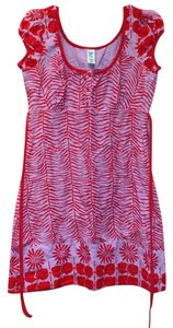 Free People short dress Lilac/Red Cotton Fully Lined on Tradesy