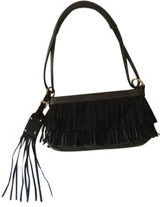 Nine West Leather Fringe Fringe Shoulder Bag