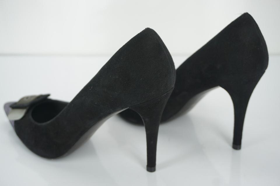 a05f52937695 Stuart Weitzman 6082601 Pointed Toe Cap Toe High Heels Black Pumps Image  11. 123456789101112