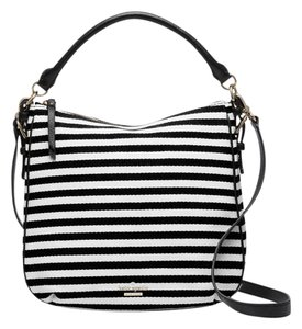 Kate Spade Woven Cotton Leather Trim Shoulder Bag