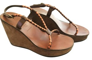 Miu Miu Brown/Orange Wedges