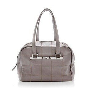 Chanel Taupe Grey Shoulder Bag