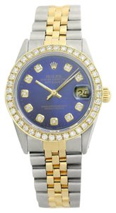 Rolex Rolex Datejust Blue Diamond Lady Watch 6917