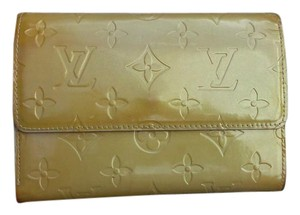 Louis Vuitton Monogram Patent Leather Yellow Clutch