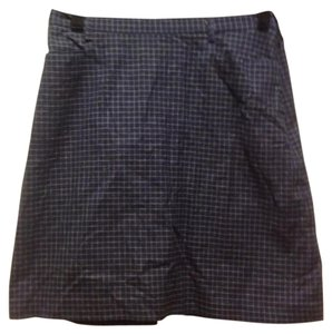 New York & Company Co. Mini Mini Skirt Navy blue and white
