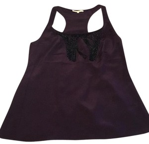Matty M Top Purple with black beading