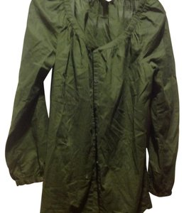 Banana Republic Deep Long Sleeve Full Button Front Like New Top Olive green
