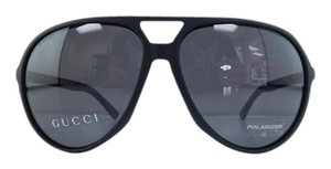 Gucci New GG 1090/S D283H Black Rubber Polarized Gray Lens Sunglasses 61mm
