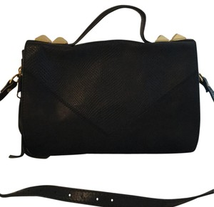 Linea Pelle Black Messenger Bag