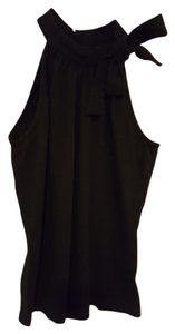 New York & Company Sleeveless Cotton Layering Top Black