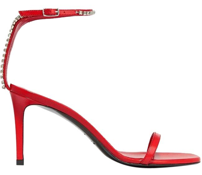 Saint Laurent Red Monogram Kate Crystal-embellished Ankle Strap Formal Shoes Size US 7.5 Regular (M, B) Saint Laurent Red Monogram Kate Crystal-embellished Ankle Strap Formal Shoes Size US 7.5 Regular (M, B) Image 1