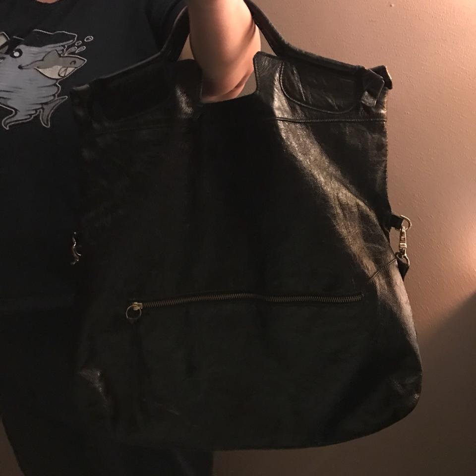 Tote Leather Foley City Corinna Black Mid Satchel aWaqtyP