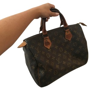 Louis Vuitton Vintage Leather Monogram Chic Tote in Brown