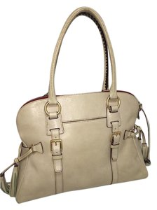 Dooney & Bourke & Leather Satchels Tote in off white and red