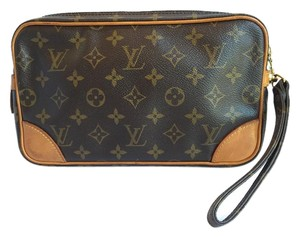 Louis Vuitton Clutch Wristlet in Brown
