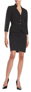 Tahari Tahari ASL New Womens Black Belted 2PC Skirt Suit 10
