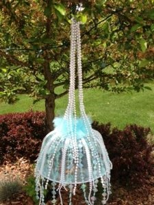 Tiffany Blue Chandelier Ceremony Decoration