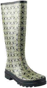 Tory Burch Black/Gray Print Boots