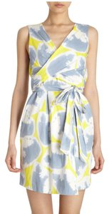 Diane von Furstenberg short dress Wrap Cotton Printed Mini on Tradesy