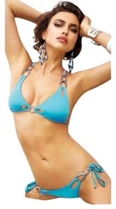 Beach Bunny Bows & Arrows Cutout Embellished Bikini Xs
