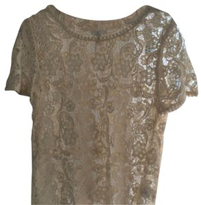 Joie Cream Top Off-White Lace