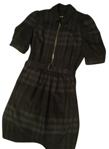 Burberry short dress Black/gray Wool Black on Tradesy
