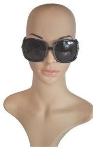 Bottega Veneta Bottega Veneta Black Oversized Sunglasses with Braided Cord
