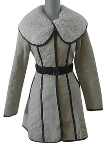 Anthropologie Trench Quilted Belted Trench Coat