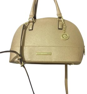 Anne Klein Hardware Satchel in Gold