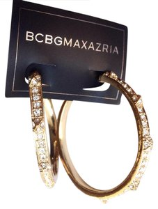 BCBGMAXAZRIA Faux Diamond Earrings