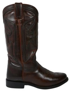 Frye Riding Leather Dark Brown Boots