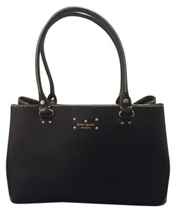 Kate Spade Leather Tote in Black