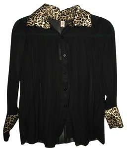 Rayli Summer Button Down Shirt Black