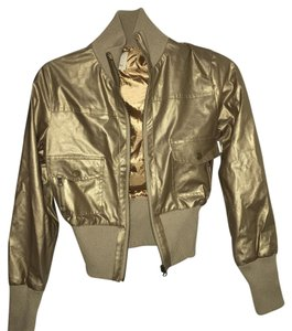 Forever 21 Gold Leather Jacket