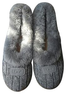 UGG Australia Slippers Fur gray Flats