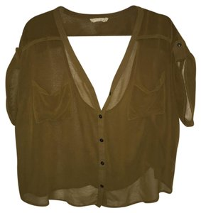 Nordstrom Button Down Shirt Olive